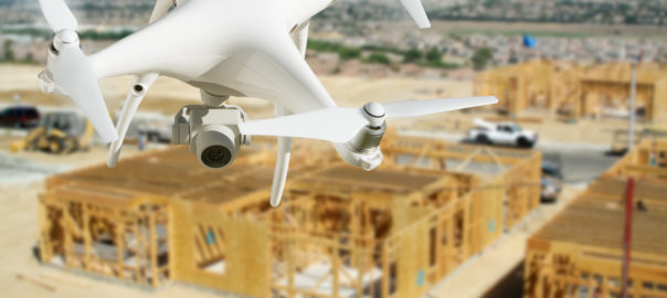UAV (Drone) Surveying a Construction Site