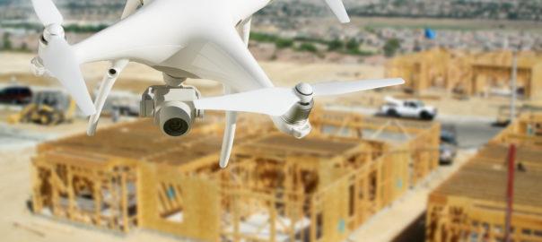 UAV (Drone) Surveying a Construction Site